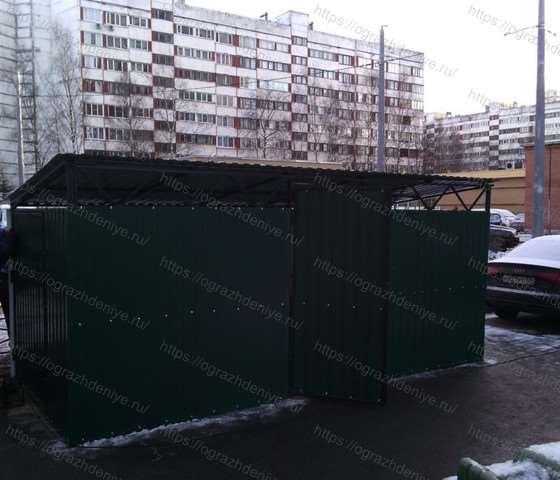 Павильоны закрытые для евроконтейнеров