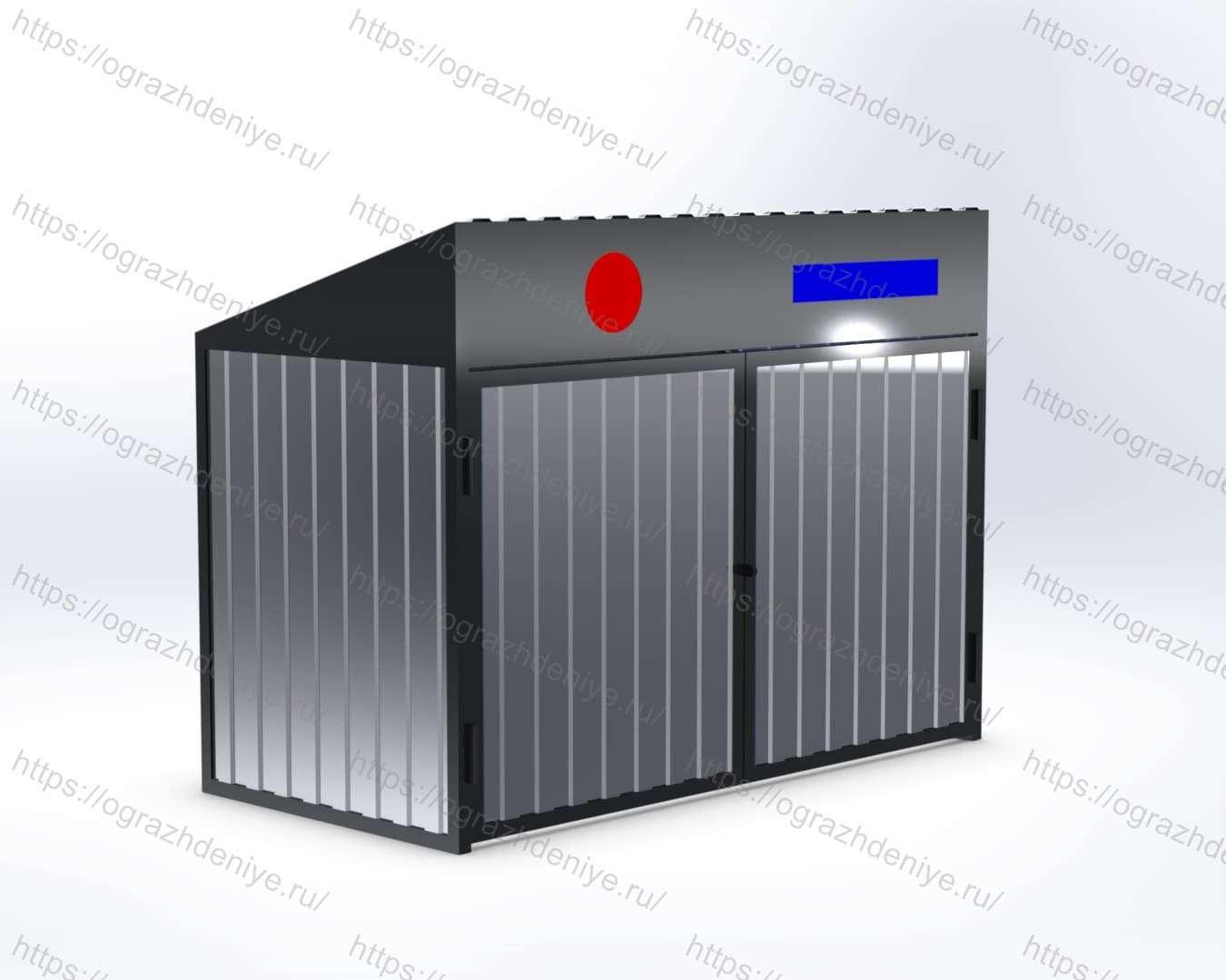 ЭКО-Бокс Эконом для раздельного сбора мусора на 2 ячейки