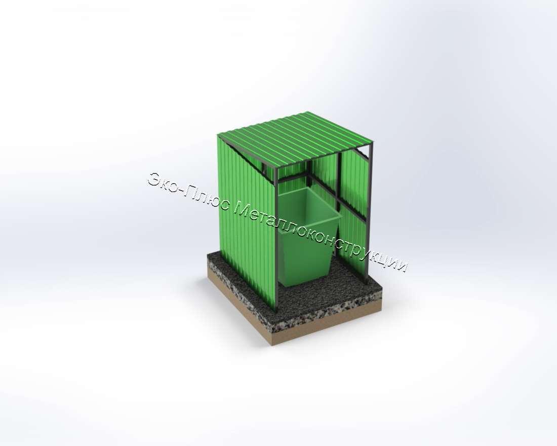 Павильон открытый для металлических контейнеров без колес