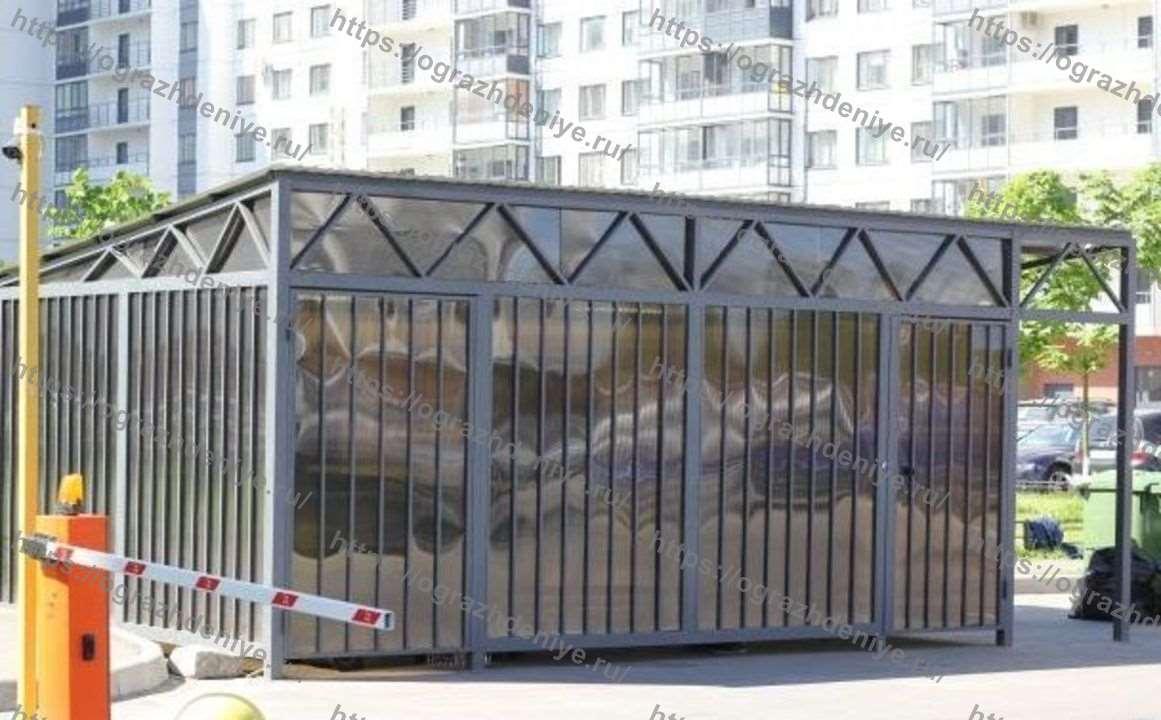 Павильоны ТБО низкие для евроконтейнеров