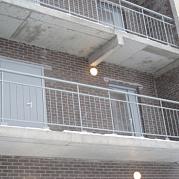 Ограждение переходных балконов